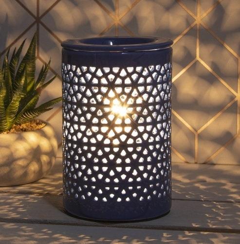 Ceramic Pottery Aroma Lamp - Navy