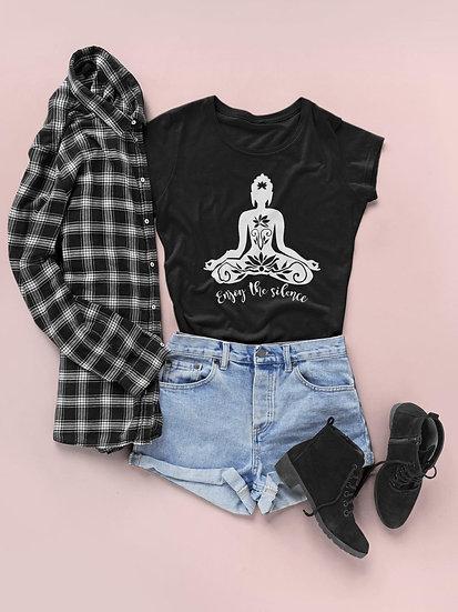 Women's Vegan Yoga T-Shirt - Enjoy The Silence