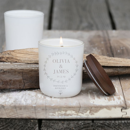 Wedding - Hand poured Personalised Luxury Soy Wax Candle