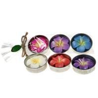 Frangipani Scented Flower Tealights - Large