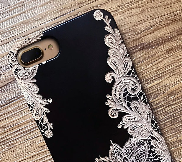 Real Wood Engraved Phone Cover - Lace