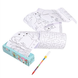 Colouring And Games Roll - Forest Friends