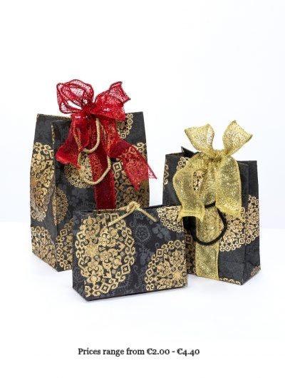 Black Handmade Medallion Gift Bag