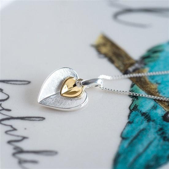 Handmade Double Heart Necklace