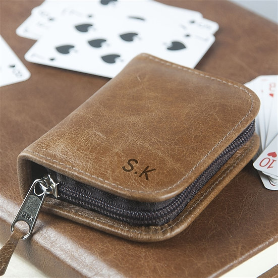 Handmade Personalised Genuine Leather Card Case