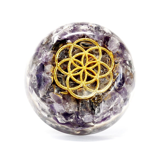 Orgonite Desk Power Packs - Amethyst Dome