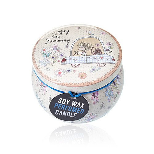 Soy Wax Art Tin Candle - Friendly Messages