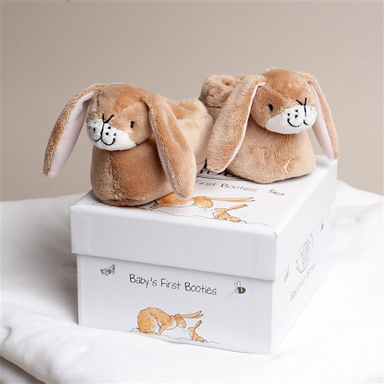 Rabbit Baby Booties - Guess how much I love you