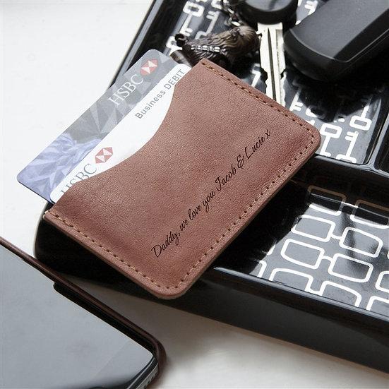 Personalised Handmade Genuine Leather Card Wallet