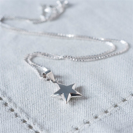 Handmade Sterling Star Necklace