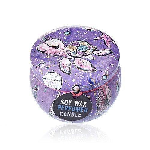 Soy Wax Art Tin Candle -Sealife