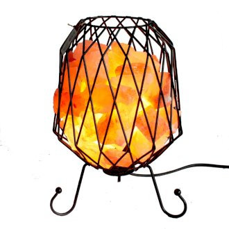 Mesh Salt Rock Brazier Lamps