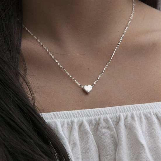 Handmade Tiny Sterling Heart Necklace