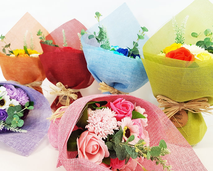 Luxury Handmade Soap Flowers, Standing Bouquets