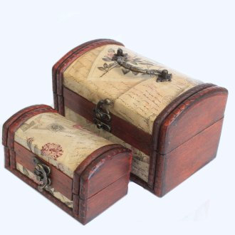 Sets of 2 Colonial Boxes - Rose Design