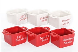 Santa Snack Bowls, Set of 3