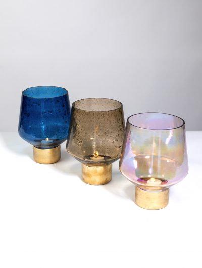 Pebbled Finish Tealight Holders - Large