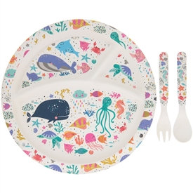 Bamboo Eco Eating Set - Sealife