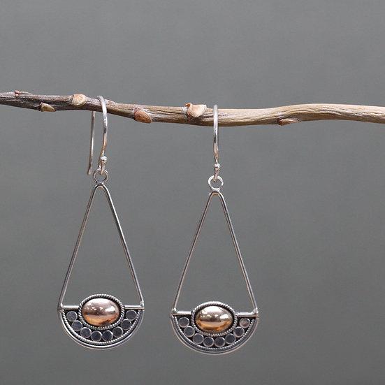 Handmade Silver & Gold Mixed Earrings Luna