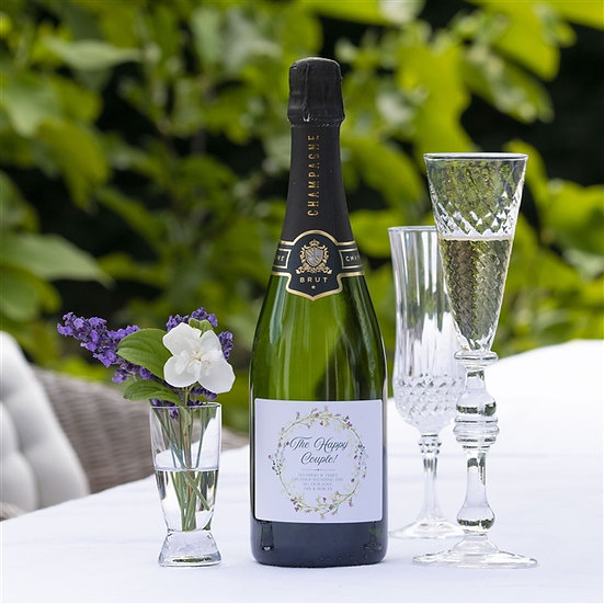 Personalised 'Happy Couple' Champagne