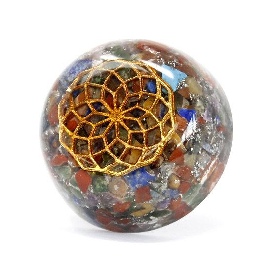 Orgonite Desk Power Packs - Multi Stone Dome
