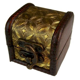 Vintage Style Boxes, Mini Colonial Boxes - Gold