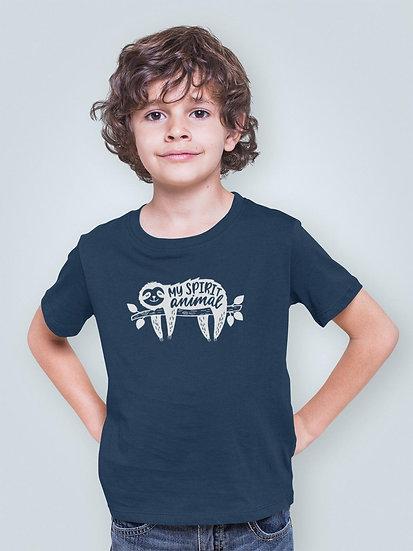Kid's Vegan Yoga T-Shirt - My Spirit Animal