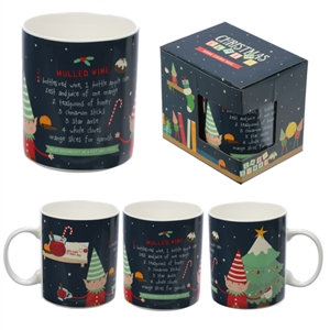 Elf Mulled Wine Christmas Mug