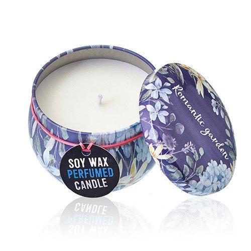 Soy Wax Art Tin Candle - Romantic Garden