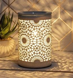 Ceramic Pottery Aroma Lamp - Grey