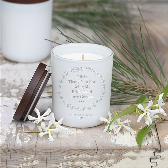 Bridesmaid - Hand poured Personalised Luxury Soy Wax Candle
