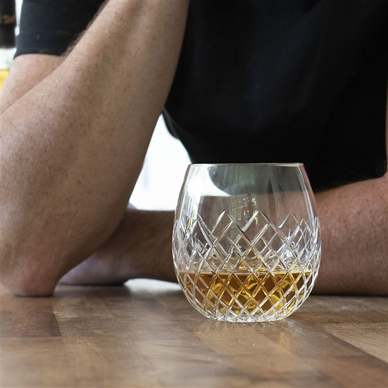 Handmade Royal Brierley Cut Crystal Whisky Tumbler