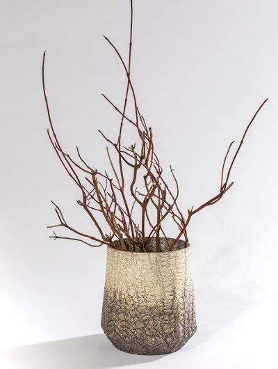 Textured Hurricane Vase