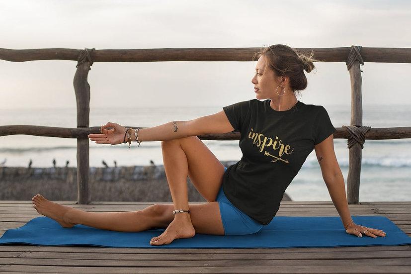 Women's Vegan Yoga T-Shirt - Inspire