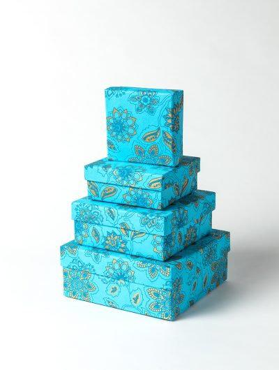 Turquoise Dahlia Gift Box Nest