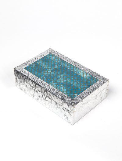 Blue & Silver Jewellery Box