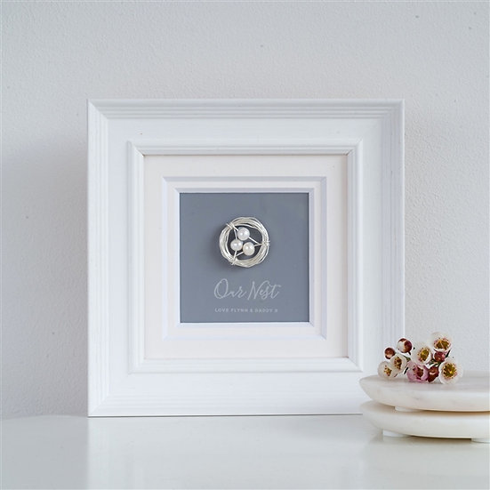 Handmade Personalised 'Our Nest' Frame