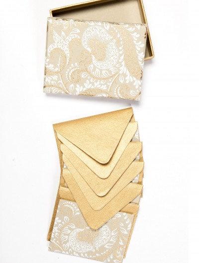 Handmade Beige Splendour Boxed Notelets