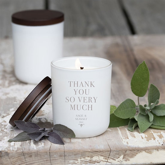 'Thank You so much'- Hand poured Personalised Luxury Soy Wax Candle