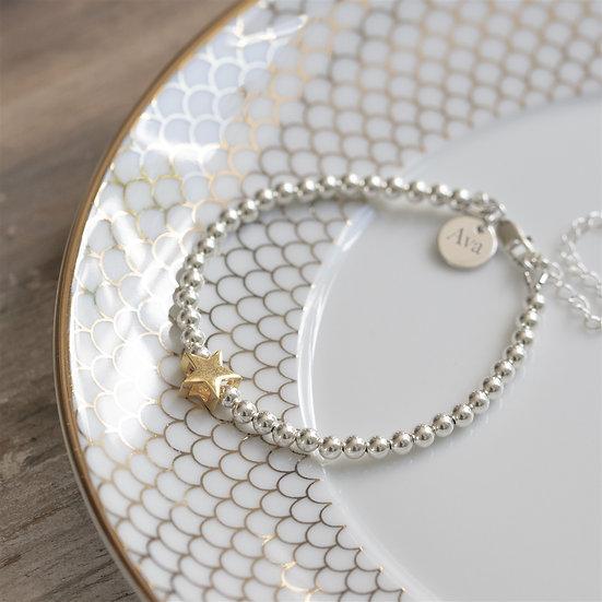 Handmade Personalised North Star Bracelet