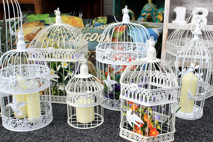 Vintage Bird Cages - Set of 3
