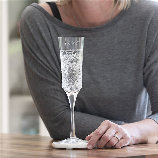 Personalised Royal Brierley Crystal Champagne Flute