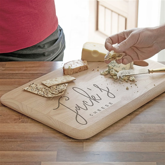Personalised First Name Solid Beech Wood Cheeseboard
