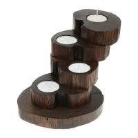 Recycled Teak Root Candle Holders 4