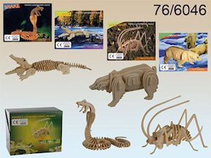 3D Wooden Puzzles - 4 Animals