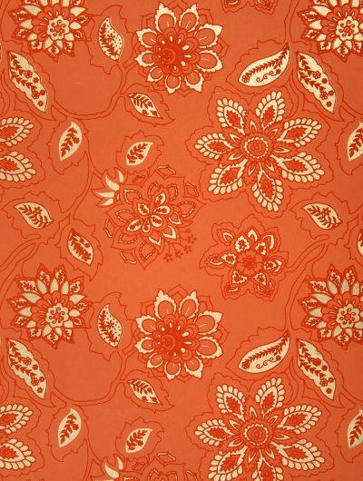 Orange Handmade Dahlia individual Gift Wrap
