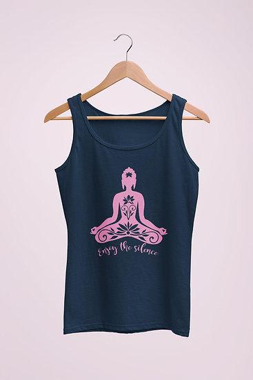 Women's Vegan Yoga Top - Enjoy the Silence