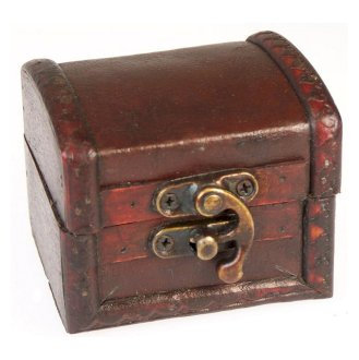Vintage Style Boxes,  Mini Colonial Boxes - Leather Effect
