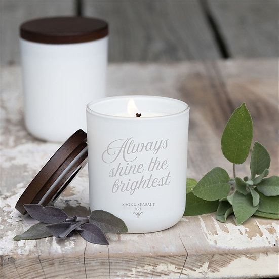 'Shine Bright'- Hand poured Personalised Luxury Soy Wax Candle