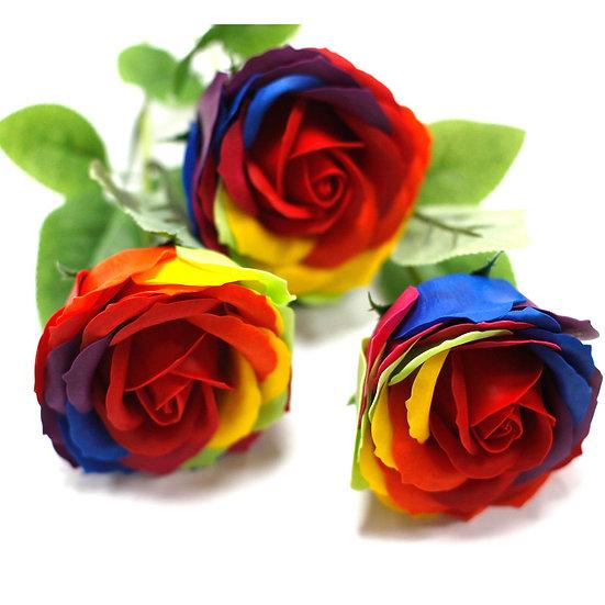 Luxury Soap Flowers - Rainbow